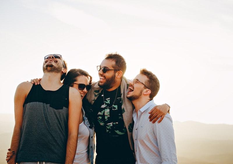 Freunde können positive Gedanken auslösen