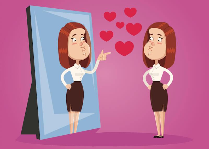Sich selbst zu lieben, bedarf ein gesundes Selbstwertgefühl