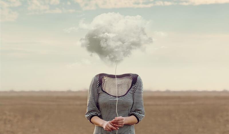 Loswerden von schlechten Gedanken durch Beobachtung