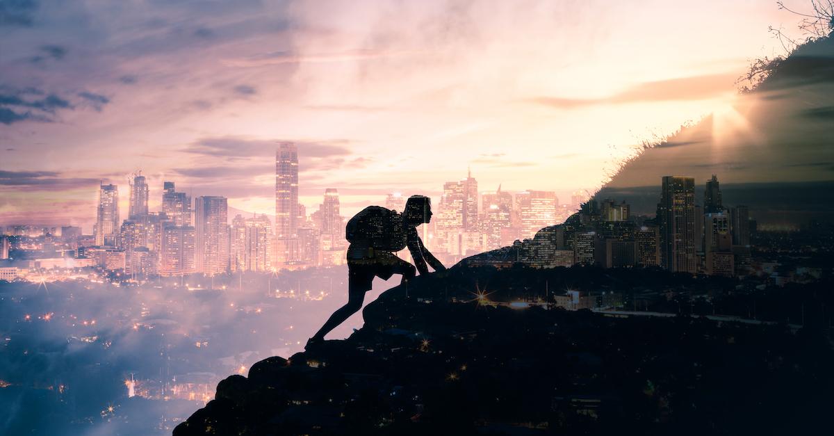 Bergsteiger will Ziel erreichen